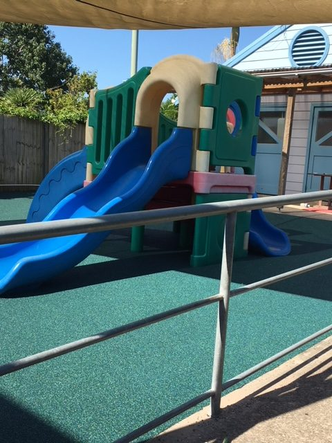 Play area after laying the turf