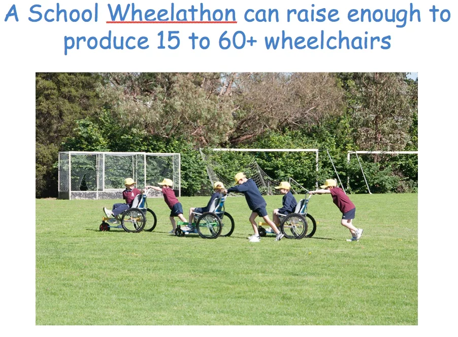 Help us by connecting with interested schools – wheelchairs for kids