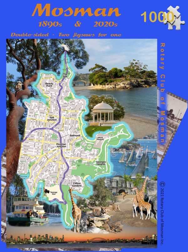 Jigsaw Puzzle of Mosman 1890 to 2020